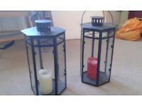 Pair of decorative lanterns