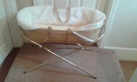 Baby's Wicker Crib (Moses Basket)