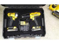DeWalt DCZ298S2T 18v DCD776 Combi Drill & DCF885 Impact Driver 2 x Batteries