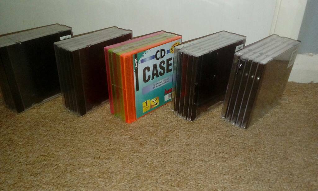 New cd cases .for music cd album single etc. Total 25