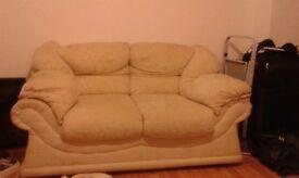 cream 2 &3 seater sofa