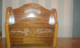 Wood teak book holder