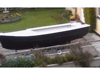 17ft/6ft day boat. Just painted hull/anti-foul. Top & deck white non-slip paint. Many more parts