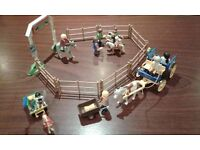 Playmobil childrens riding school with carriages