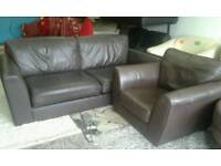 Ex display next leather suite delivery free bargain bargain