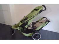 Well used double Phil & Ted pushchair