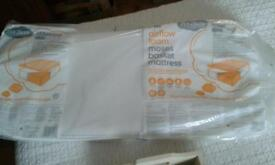 Brand new in packaging Mothercare Air Flow Breathable mattress for baby Moses basket RRP £25