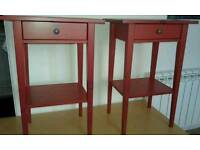 2 x Red IKEA bedside tables - free delivery