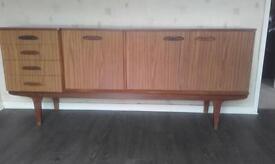 Vintage 1960s original formica sideboard. Very good condition