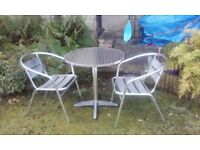 Garden table and chairs bistro set
