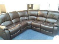 New corner leather recliner sofa