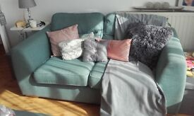 2/3 seater sofa and matching storage footstool