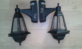 black outdoor carriage lights