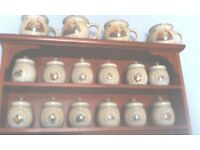 Disney winnie the pooh spice jars complete collection & rack