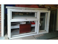 TWO DOUBLE GLAZED WINDOWS..WHITE UPVC