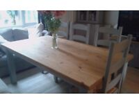 French Farmhouse Dining Table & Chairs