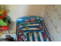 Peppa pig bed and bedding