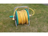 Garden hose on reel