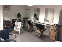 renting shop or lease sale A1 lisence hair salon with 9 chair plus nail table