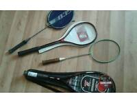 Selection of squash racquets