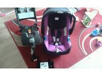 Britax baby safe plus SHR II car seat & Isofix base