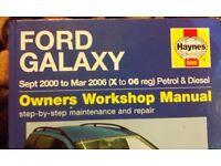 HAYNES MANUAL FORD GALAXY MK2
