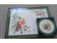 Johnson Brothers Fresh Fruit Table Mats and Coasters
