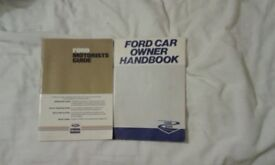 2 ford owners hand books