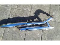 Yamaha Dragstar 650cc exhaust