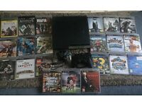 Ps3 with 2 controllers and 21 games