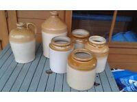 earthenware stone jars.