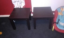 2 Dark Brown Leather Effect Coffee Tables £5 each