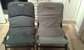 2x fishing chairs.1 korum super lite excelent condition.1 carp system slight repair needed.