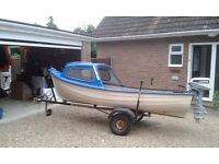 14 ft Boat with outboard engine