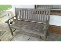 Wooden garden bench no damage