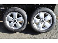 """GENUINE BMW Mini F55/56/57 15"""" Heli spoke alloy wheels to fit 3rd. generation One and Cooper."""