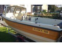 ALASKA 500 SHETLAND BOAT WITH 55hp ENGINE AND TRAILER