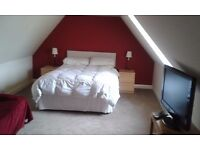 Large double room available on top floor of old house