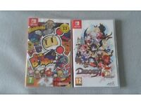 Nintendo Switch games Disgaea 5 and Super Bomberman R. Swap or Sell