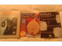 Banjo Learn to play Tab book, Song books and DVD