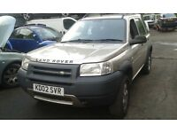 2002 Land Rover Freelander 1.8 GS gold 5dr 618 TBE BREAKING FOR SPARES