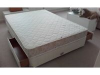 Vi-Spring Double Bed Solid Base with 2-Drawers + Dormatherm Memory Foam Mattress with Merino Wool.