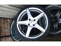 4 stud 17inch low profile alloys
