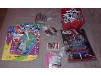 bundle of childrens trading cards - match attax, star wars, shopkins, dinosaurs, motorbikes, footy