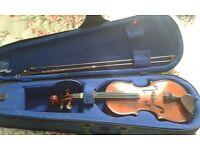 Child's school violin and case £8