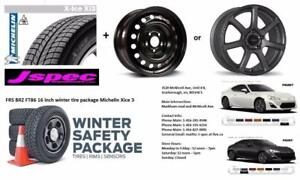 Subaru BRZ Toyota FT86 Scion FRS 16  17 inch winter rims n tire package
