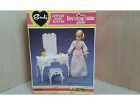 Sindy Dressing Table and Stool for Sindy's1970's bedroom