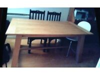 price drop only for today £75..family size solid wood dining table.very well looked after.no chairs.