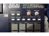 Akai mpc 2000 xl blue Midi Production Center 2000xl sampler drum machine