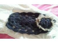 Black woolly headband